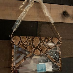 Clear Stadium Purses with crossbody straps